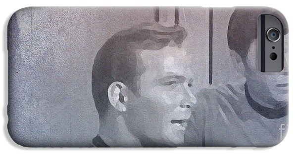 Enterprise Mixed Media iPhone Cases - Star Trek Kirk and McCoy iPhone Case by Pablo Franchi