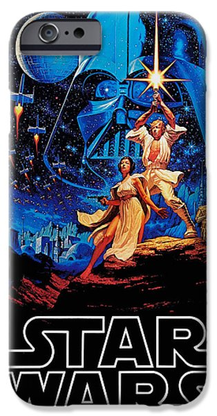 Retro Abstract iPhone Cases - Star Wars iPhone Case by Farhad Tamim