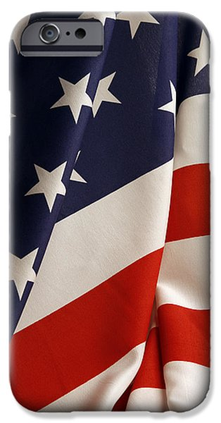 Stars and stripes iPhone Case by Les Cunliffe