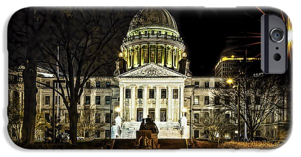 Built Structure iPhone Cases - State Capitol iPhone Case by Maria Coulson