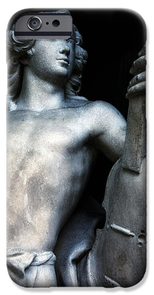 Head Stone iPhone Cases - Statue iPhone Case by Joana Kruse