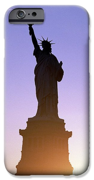Liberty Photographs iPhone Cases - Statue of Liberty iPhone Case by Tony Cordoza