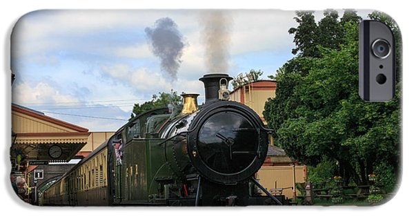Wark iPhone Cases - Steam locomotive 4270 arrives at Toddington Station iPhone Case by Louise Heusinkveld