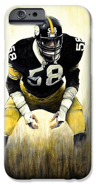American Football Paintings iPhone Cases - Steel Curtain iPhone Case by William Walts