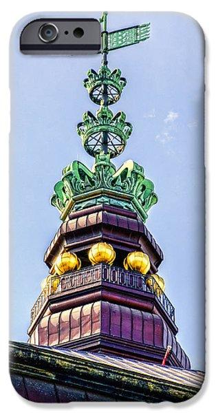 Wooden Ship iPhone Cases - Steeple - Copenhagen Denmark iPhone Case by Jon Berghoff