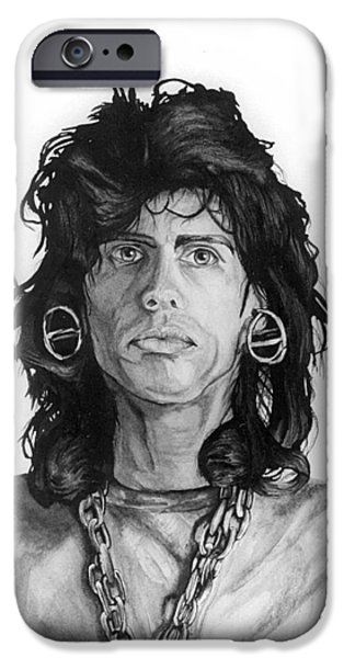 Steven Tyler Paintings iPhone Cases - Steven Tyler iPhone Case by Anthony DeCilio