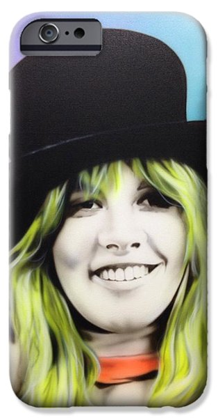 Musicians Framed Prints iPhone Cases - Stevie iPhone Case by Christian Chapman Art