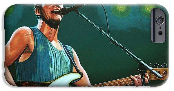 Police Art iPhone Cases - Sting iPhone Case by Paul  Meijering