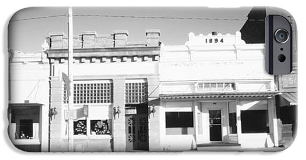 Store Fronts iPhone Cases - Store Fronts, Main Street, Small Town iPhone Case by Panoramic Images