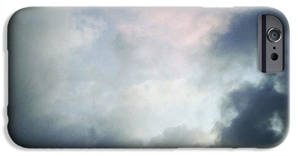 Grey Clouds Photographs iPhone Cases - Storm clouds iPhone Case by Les Cunliffe