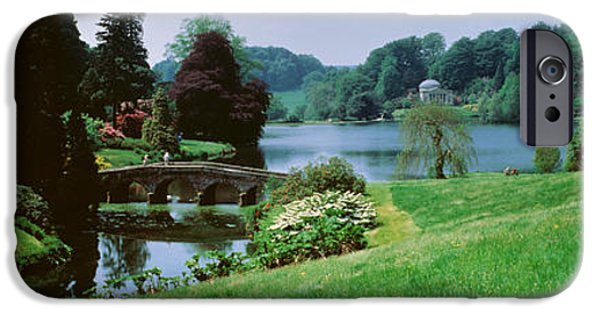 Pathway iPhone Cases - Stourhead Garden, England, United iPhone Case by Panoramic Images