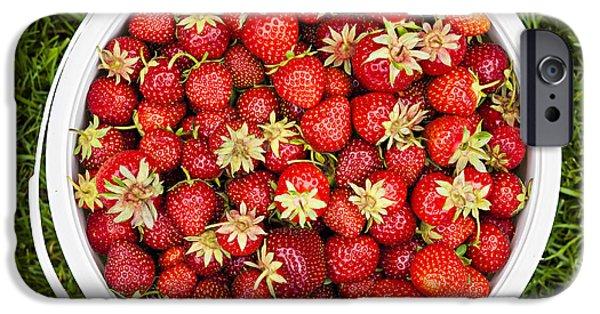 Strawberries iPhone Cases - Strawberries iPhone Case by Elena Elisseeva