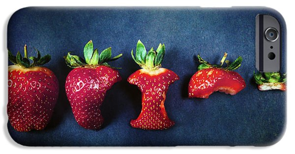 Bite iPhone Cases - Strawberries iPhone Case by Joana Kruse