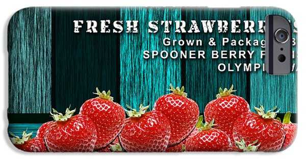 Strawberry iPhone Cases - Strawberry Farm iPhone Case by Marvin Blaine