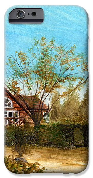 Strawberry Lodge iPhone Case by Dale Jackson