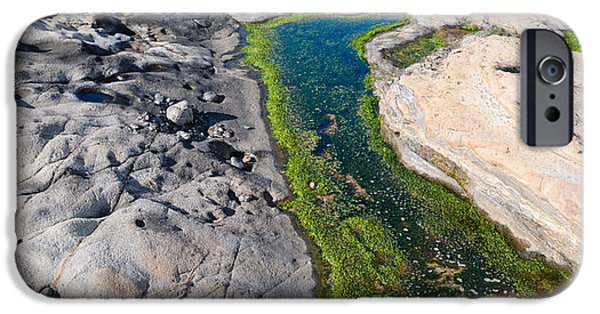 Point Lobos State iPhone Cases - Stream Flowing Through A Rocky iPhone Case by Panoramic Images