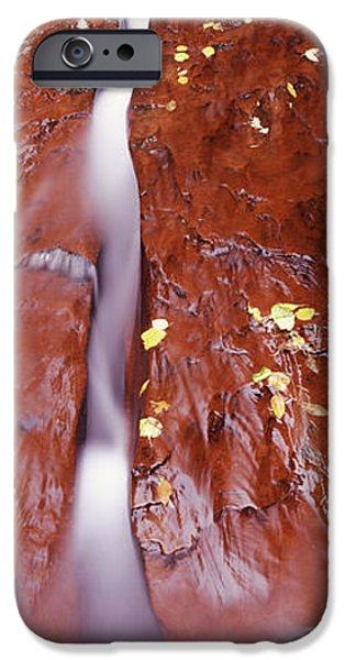 Red Rock iPhone Cases - Stream Flowing Through Rocks, North iPhone Case by Panoramic Images