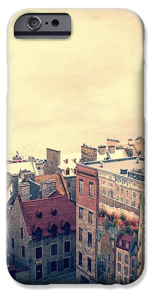 Quebec iPhone Cases - Streets of Old Quebec City iPhone Case by Edward Fielding