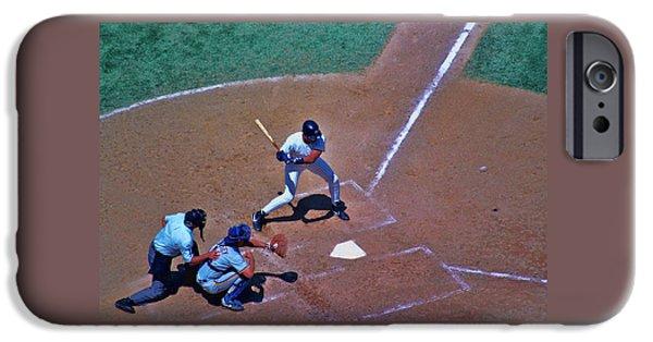 Baseball Glove iPhone Cases - Strike  iPhone Case by Allen Beatty