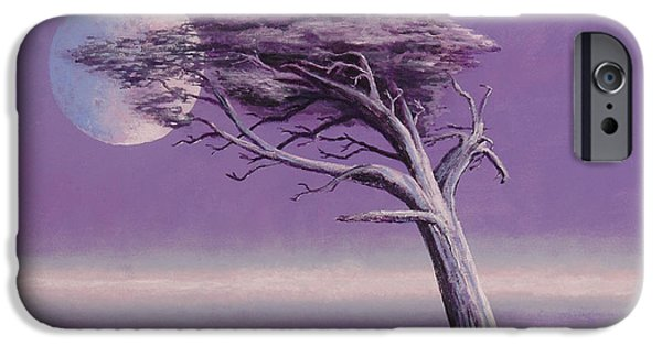 Tree Roots Paintings iPhone Cases - Struggle iPhone Case by Jerry McElroy