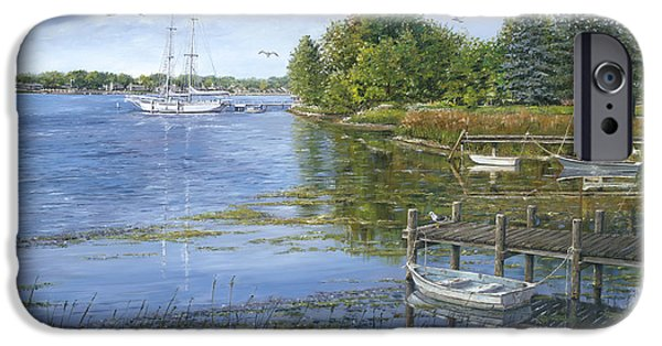 Chicago Paintings iPhone Cases - Sturgeon Bay iPhone Case by Doug Kreuger