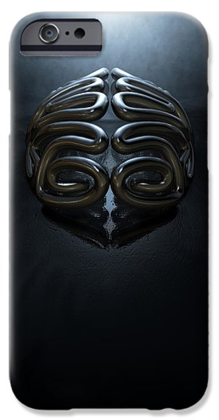Concept iPhone Cases - Stylized Thought Statue iPhone Case by Allan Swart