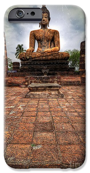 Tibet iPhone Cases - Sukhothai Buddha iPhone Case by Adrian Evans
