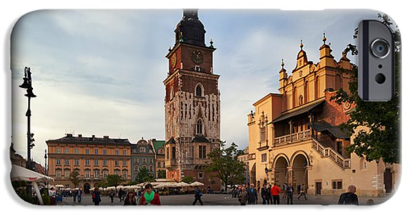 Town Square iPhone Cases - Sukiennice, The Renaisssance Cloth iPhone Case by Panoramic Images