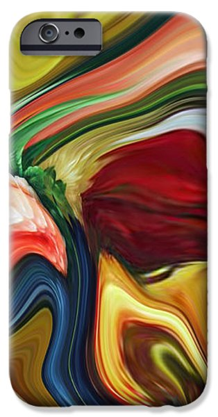Abstract Expressionist iPhone Cases - Sum of All Suburban Daydreams Triptych iPhone Case by Chad Miller