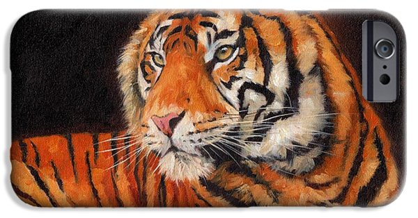 Wild Animals iPhone Cases - Sumatran Tiger iPhone Case by David Stribbling