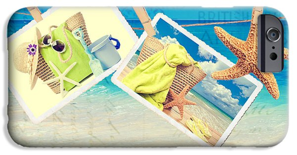 Beach Towel iPhone Cases - Summer Postcards iPhone Case by Amanda And Christopher Elwell