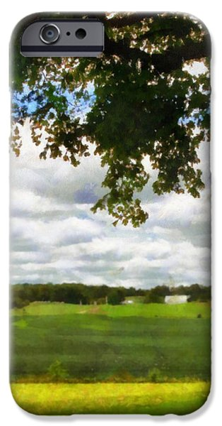 The Trees Mixed Media iPhone Cases - Summer Shade iPhone Case by Dan Sproul