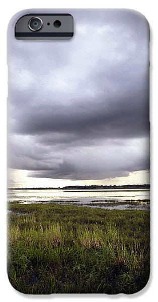 Summer Storm Over the Lake iPhone Case by Skip Nall
