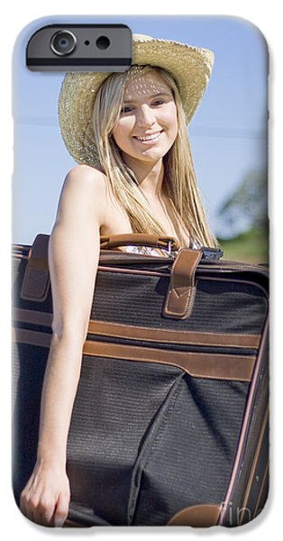 Anticipation Photographs iPhone Cases - Summertime Travelling Tourist iPhone Case by Ryan Jorgensen