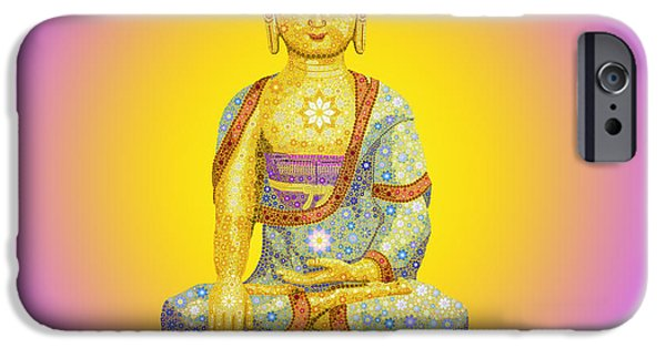 Buddhism iPhone Cases - Sun Buddha iPhone Case by Tim Gainey
