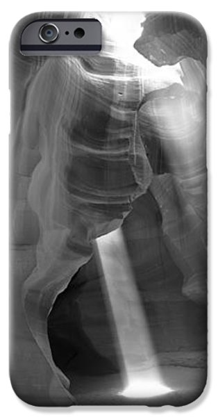 Lake Powell iPhone Cases - Sunlight Passing Through Rock iPhone Case by Panoramic Images