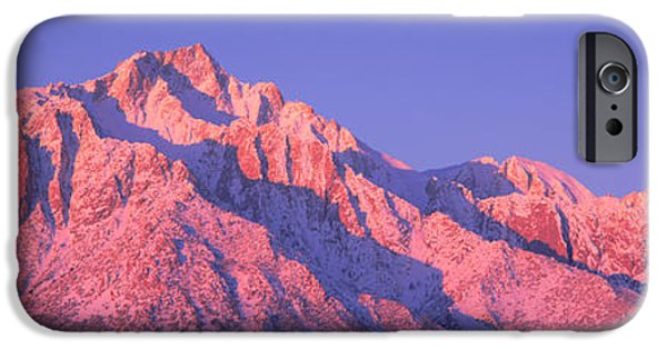 Mountain iPhone Cases - Sunrise At 14,494 Feet, Mount Whitney iPhone Case by Panoramic Images