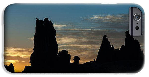 Nation iPhone Cases - Sunrise at Totem Pole iPhone Case by George Buxbaum