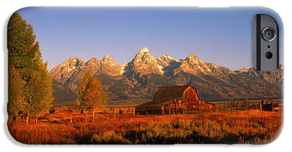 Shed iPhone Cases - Sunrise Grand Teton National Park Wy Usa iPhone Case by Panoramic Images