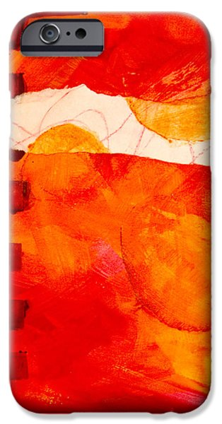 Tangerine Paintings iPhone Cases - Sunrise iPhone Case by Nancy Merkle