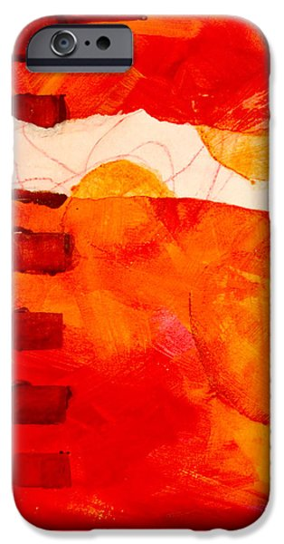Tangerines Paintings iPhone Cases - Sunrise iPhone Case by Nancy Merkle