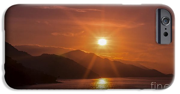 Beach Landscape iPhone Cases - Sunset iPhone Case by Aged Pixel