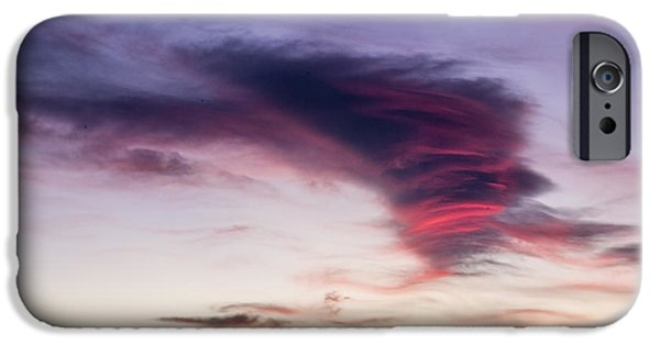 A Summer Evening Landscape iPhone Cases - Sunset and clouds red sensations. iPhone Case by Stefano Piccini