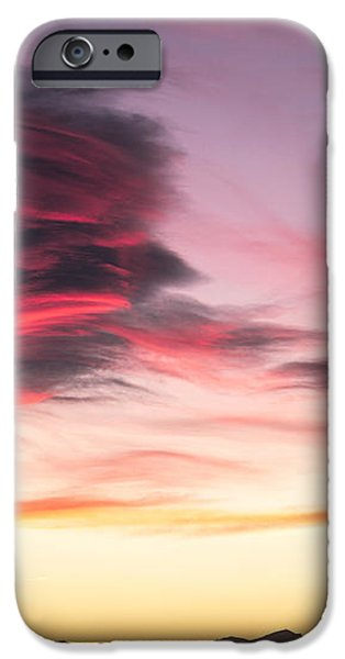 Sunset and clouds iPhone Case by Stefano Piccini