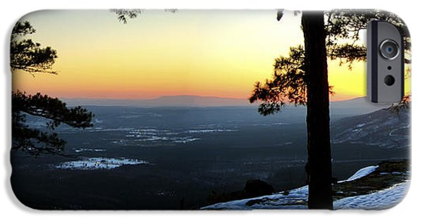 Arkansas iPhone Cases - Sunset Atop Snowy Mt. Nebo iPhone Case by Jason Politte