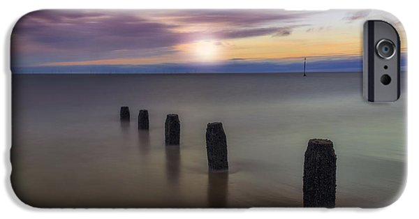 Seacapes iPhone Cases - Sunset Beach iPhone Case by Ian Mitchell