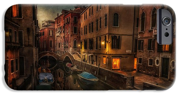 Built Structure iPhone Cases - Sunset in Venice iPhone Case by Dobromir Dobrinov