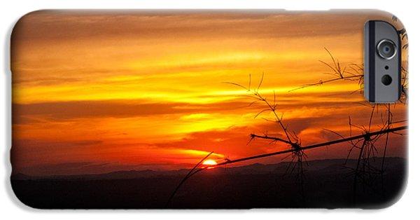 Nawarat Namphon iPhone Cases - Sunset iPhone Case by Nawarat Namphon