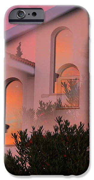 Sunset on Houses iPhone Case by Augusta Stylianou