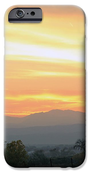 Sunset Over The Rockies iPhone Case by Emily Clingman